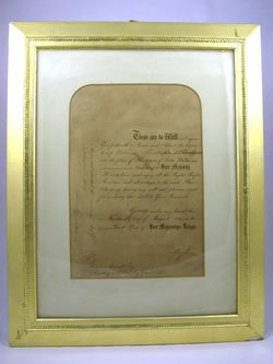 1837_英国王室御用達_認定書
